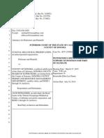2014.12.12 Opening Brief Coastal Hills Rural Preservation vs. County of Sonoma, Case# SCV-255694