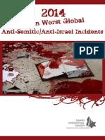 2014 Top Ten List of Worst Anti-Semitic/Anit-Israel Incidents
