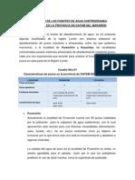 EVALUACION DE FUENTES DE AGUA SUBTERRANEA EL LA PROVINCIA DATEM DEL MARAÑON LORETO