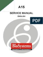 BioSystems a-15 Analyzer - Service Manual
