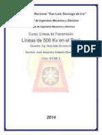 Líneas de 500 Kv en El Perú
