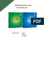 Prosedur Dan Cara Instalasi Microsoft Windows XP