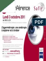 Webconférence SAFIR Le 3 Octobre 2011