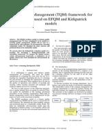 TQM Framework for E-learning Based on EFQM and Kirkpatrick Models (2006)