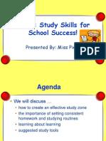 FAST Study Skills Presentation