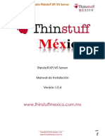Manual ThinstuffXPVSServer 1.0.472