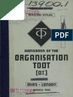 Handbook of the Organization Todt Pt1 1945
