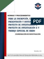 Procedimientos de Investigacion