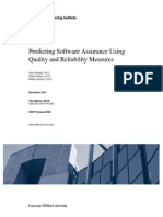Predicting Software Assurance Using Quality and Reliability Measures