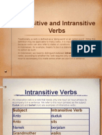 LOTE - Indo 10 - Unit 4 - Resource - Transitive and InTransitive Verbs