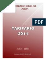 Tarifario UAC 2014