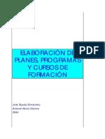 Elaboración de Planes de Formacixn