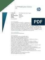 Servicing HP BladeSystem Solutions