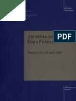Jornadas sobre Etica Publica, España 1997
