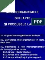 Microorganismele din lapte