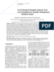 Self Assessment of Motahari Hospital, Jahrom, Based on EFQM Model (Iran, 2013)
