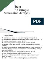 One-Dimensional Arrays