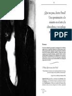 Que Me Pasa Doctor Freud Una Aproximación A Lo Siniestro del arte y la cibercultura
