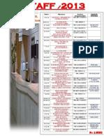 Staff de Bibliographie 2013