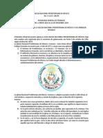 Plan Anual de Trabajo de La Iglesia Nacional Presbiteriana de México