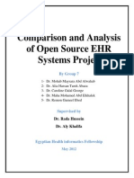 Comparison and Analysis of Open Source EHR Systems Project Documentation