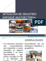 Mitigacion de Desastres Enfoque Multisectorial