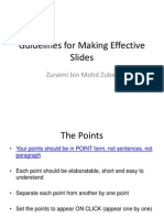 Guidelines for Making Effective Slides