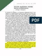 Distincion Marxista Entre Ciencia e Ideologia