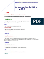 Manual de Comandos de IRC e MIRC