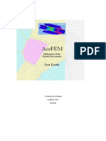 Ace Fem Manual finite element simple programming instruction