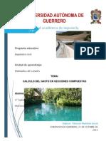 CALCULO DEL GASTO EN SECCIONES COMPUESTAS