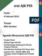 Mesyuarat AJK PSS 2013