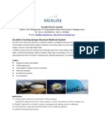 Excelite U Locking-Design Structure Multiwall Polycarbonate Hollow Sheet