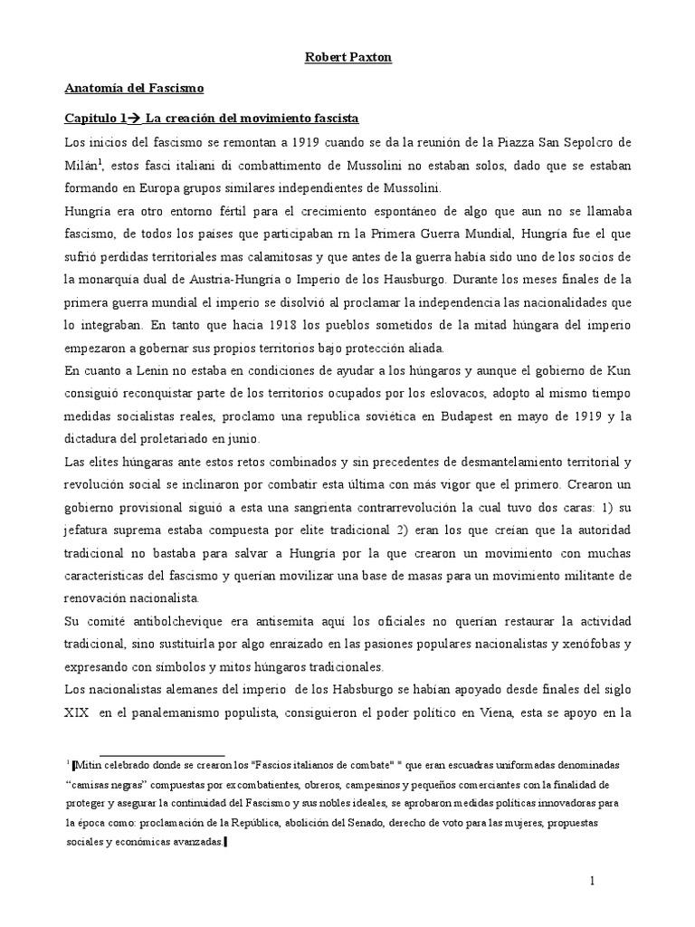 Robert Paxton-Anatomia Del Fascismo-siglo Xx