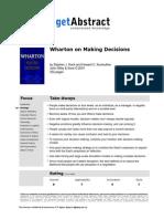 Wharton on Decisions e 03