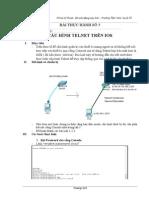 Lab5_Cấu Hình Telnet Trên Thiết Bị Cisco