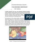 Pengantar Geofisika Eksplorasi
