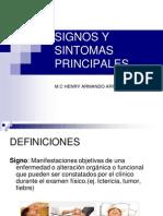 Signos y Sintomas Principales 2014 I