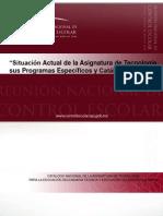 Catálogo Nacional de La Asignatura de Tecnología para Mexico