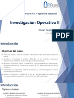Investigación Operativa II - Prof. Vivian Segovia