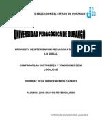 Propuesta Del Campo de Lo Social y Educacion Indigena