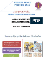 Clase de Traumatismo vertebro medular 2014 II