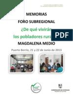 5 Memorias Magdalena Medio- Foro Rural