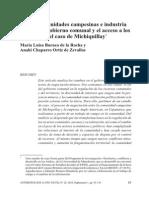 Burneo y Chaparro_poder, Comunidades Campesinas e Industria Minera
