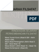SEJARAH FILSAFAT