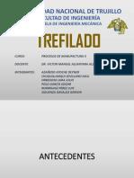 TREFILADO- PROCESOS DE MANUFACTURA