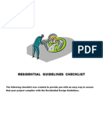 Residential Guidelines Checklist