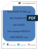 Uni-GAUGE PG MD 2015 Dental/Medical PG Entrance Exam 2015