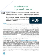 Investment in Hydropower in Nepal