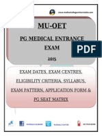 Manipal University Online Entrance Test (MU OET 2015)